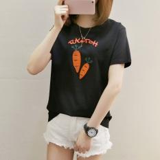 Diskon Produk Xianyuansu Kaos Wanita Lengan Pendek Motif Cetak Kartun Imut 273 Hitam Baju Wanita Baju Atasan Kemeja Wanita