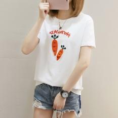 Jual Xianyuansu Kaos Wanita Lengan Pendek Motif Cetak Kartun Imut 273 Putih Baju Wanita Baju Atasan Kemeja Wanita Lengkap