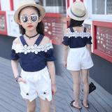 Beli 1 Set Baju Summer Anak Perempuan Gaya Korea Biru Tua Biru Tua Oem Online