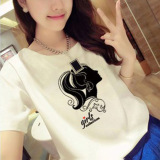 Beli Versi Korea Dari Huruf Cetak T Shirt 7007 Baju Wanita Baju Atasan Kemeja Wanita Murah