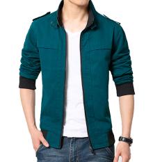 Beli Versi Korea Dari Kain Katun Bagian Tipis Slim Mantel Jaket Pria Biru Navy Jaket Pria Jaket Jeans Jaket Denim Murah Di Tiongkok