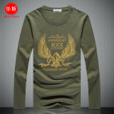 Review Toko Kaos Pria Lengan Panjang Atasan Kapas Musim Semi Dan Musim Gugur Tentara Hijau Golden Eagle Model Online