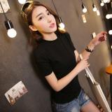 Harga Korea Fashion Style Katun Warna Solid Perempuan Lengan Pendek T Shirt Bottoming Kemeja Zs Lengan Pendek Hitam Zs Lengan Pendek Hitam Oem Terbaik
