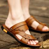 Review Terbaik Versi Korea Dari Kulit Pria Mengemudi Sepatu Kasual Sepatu Pria Sandal Khaki Sepatu Pria Sepatu Sendal