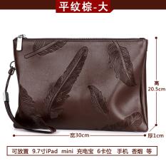 Review Versi Korea Dari Kulit Yang Lembut Clutch Bag Clutch Kapasitas Besar Tas Tangan Pria Tas Tenunan Polos Coklat Besar Oem Di Tiongkok