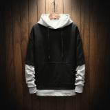 Diskon Looesn Korea Fashion Style Laki Laki Baru Remaja Pria Sweater Hoodie Pullover Hitam Tiongkok