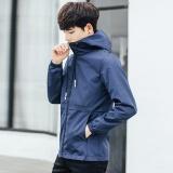 Review Toko Jaket Korea Fashion Style Atasan Pria Warna Solid Laki Laki Abu Abu Online