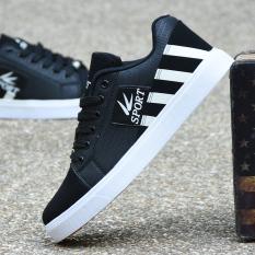 Sepatu Kets Pria Sol Datar Tahan Air Versi Korea Hitam Hitam Promo Beli 1 Gratis 1