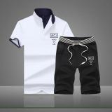 Spesifikasi Versi Korea Dari Laki Laki Lengan Pendek T Shirt I Jas D007 Putih Baru