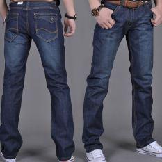 Spesifikasi Jeans Musim Semi Dan Musim Panas Celana Korea Fashion Style Laki Laki Model Konvensional Premium Biru D041 Celana Pria Celana Panjang Pria Celana Jeans Merk Oem