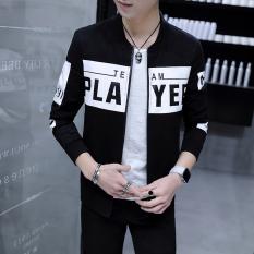 Toko Versi Korea Dari Laki Laki Muda Bisbol Seragam Jaket Pria Jaket Hitam Jaket Pria Jaket Jeans Jaket Denim Online Tiongkok