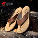 Beli Versi Korea Dari Laki Laki Non Slip Yard Besar Sandal Sandal Kulit Sandal Coklat Gelap Baru