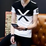 Kualitas Versi Korea Dari Laki Laki Remaja Siswa Musim Panas Lengan Pendek T Shirt Besar X Pada Hitam Other