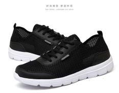Review Tentang Korea Fashion Style Laki Laki Papan Sepatu Bernapas Sepatu Pria Hitam