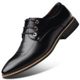 Toko Sepatu Kulit Korea Fashion Style Baru Sepatu Kasual Pria Inggris 1761 Hitam Di Tiongkok
