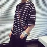 Katalog Versi Korea Dari Leher Bulat Bergaris Longgar Lengan Pendek Kemeja T Shirt Kelima Bergaris Baju Atasan Kaos Pria Kemeja Pria Other Terbaru