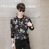 Harga Versi Korea Dari Leher Bulat Musim Semi Slim Kemeja Pullover T Shirt Kuning Tengkorak Yg Bagus