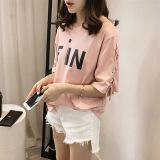 Beli Versi Korea Dari Lengan Pendek Musim Semi Perempuan T Shirt Merah Muda Online Terpercaya