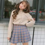 Beli Korean Style New Style Student Top Base Shirt Khaki Baju Wanita Baju Atasan Kemeja Wanita Blouse Wanita Di Tiongkok