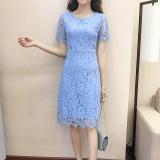 Versi Korea Dari Merah Perempuan Baru Gaun Musim Panas Gaun Biru Oem Murah Di Tiongkok