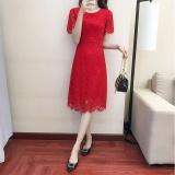 Toko Versi Korea Dari Merah Perempuan Baru Gaun Musim Panas Gaun Merah Terdekat