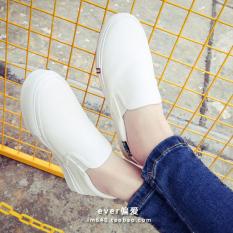 Diskon Sepatu Kanvas Wanita Sol Datar Netral Versi Korea Putih Sepatu Wanita Sepatu Sport Sepatu Sneakers Wanita Tiongkok