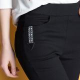 Spesifikasi Celana Pensil Jeans Wanita Warna Hitam Elastis Ukuran Besar Versi Korea Hitam Murah Berkualitas