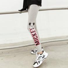 Spesifikasi Longgar Korea Fashion Style Musim Semi Dan Huruf Musim Gugur Dicetak Celana Panjang Putih Yang Bagus Dan Murah