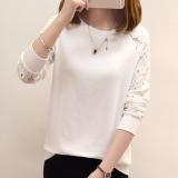 Jual Beli Versi Korea Dari Musim Gugur Wanita Baru Bottoming Kemeja Lengan Panjang T Shirt Putih Baju Wanita Baju Atasan Kemeja Wanita Baru Tiongkok