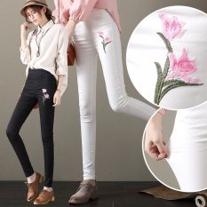 Toko Versi Korea Dari Musim Gugur Wanita Baru Celana Panjang Pinggang Tinggi Celana Jeans Hitam Dekat Sini