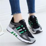 Sepatu Sneakers Wanita Heels Tebal Breathable 001 Hitam Dan Hijau Warna 001 Hitam Dan Hijau Warna Tiongkok Diskon
