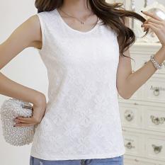 Jual Mosangka Rompi Pendek Wanita Trendi Bahan Sifon Renda Tanpa Lengan Warna Putih 138 Putih Baju Wanita Baju Atasan Satu Set