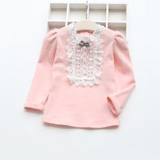 Review Toko Sayang Korea Fashion Style Kapas Musim Semi Dan Musim Gugur Model Musim Dingin Atasan Baju Dalaman Merah Muda