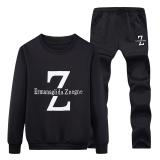 Versi Korea Dari Musim Semi Dan Musim Gugur Pria Lengan Panjang Sweater Joging Casual Hitam Diskon Tiongkok