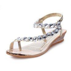 Rp 172.500. Musim Semi dan Musim Panas Model Baru Versi Korea Murid Batu Kristal Air Sandal Summer ...