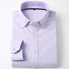 Beli Kemeja Lengan Panjang Kemeja Putih Kasual Kain Oxford Laki Laki Lengan Panjang 5 Baju Atasan Kaos Pria Kemeja Pria Di Tiongkok