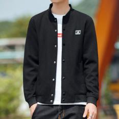 Musim Semi dan Musim Gugur Pria Rajutan Jaket Versi Santai Korea Jaket Bisbol Baju Dalaman Atasan