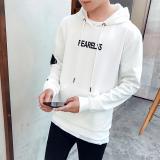 Beli Korea Fashion Style Tambah Beludru Slim Siswa Jaket Bisbol Kaos Sweater Putih Yang Bagus