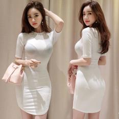 Promo Korea Fashion Style Perempuan Baru Slim Rok Gaun Putih Putih Baju Wanita Dress Wanita Gaun Wanita Oem Terbaru