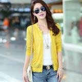 Review Kemeja Rajut Korea Fashion Style Perempuan Kardigan Yard Besar Liar 1373 Kuning Oem
