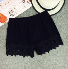 Dalaman Celana Bisa Dipakai Di Luar Legging Korea Fashion Style Renda Bunga Hitam Oem Diskon 30