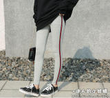 Jual Celana Wanita Aneka Warna Bagian Samping Garis Garis Berwarna Katun Tulen Gaya Korea Abu Abu Terang Merah Dan Hijau Strip Branded
