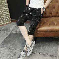 Versi Korea dari Pria Ramping Celana Pendek Celana Celana (Laba-laba
