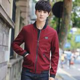 Jual Korea Fashion Style Laki Laki Remaja Siswa Jaket Pria Musim Semi Dan Musim Gugur Jaket Anggur Merah Tiongkok