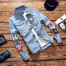 Harga Jaket Jeans Pria Lengan Panjang Retro Versi Korea 227 Biru Muda 227 Biru Muda Paling Murah