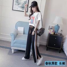 Longgar Kasual Lee Jeans Baru Panjang Celana Kulot Celana Kopi Warna Musim Semi Dan Musim Gugur Bagian Tebal Asli
