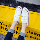 Perbandingan Harga Versi Korea Dari Sepatu Kulit Musim Semi Sepatu Putih Baru Velcro Putih Dan Merah Oem Di Tiongkok