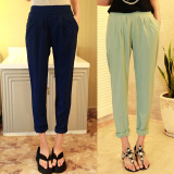 Jual Celana Sifon Musim Panas Celana Harem Korea Fashion Style Baru Pu Hijau Belanda Oem Ori