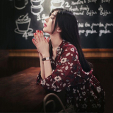 Jual Gaun Bunga Rok Setengah Panjang Korea Fashion Style Sifon Lengan Panjang Anggur Merah Baru