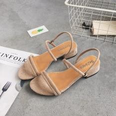 Jual Sandal Summer Baru Dengan Sepatu Romawi Korea Fashion Style Perempuan Beige Sepatu Wanita Sendal Wanita Oem Murah